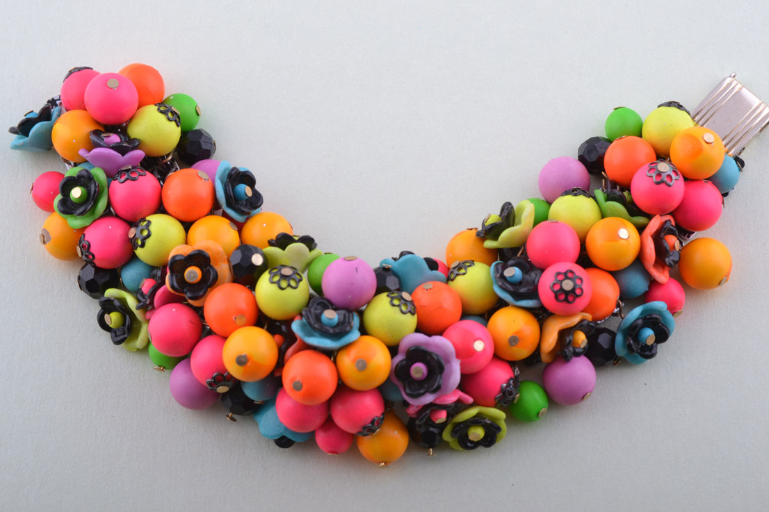 Vintage Tropical-Coloured Bracelet