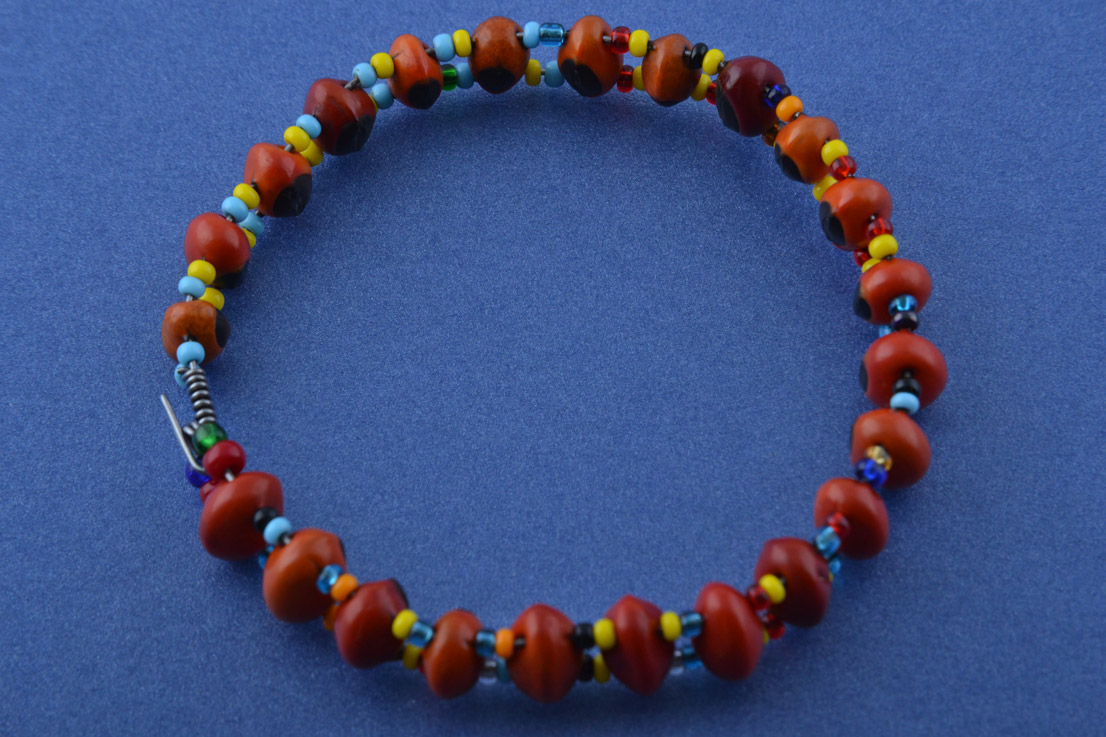 d588f5b0af77f African Bangle With Lucky Beans