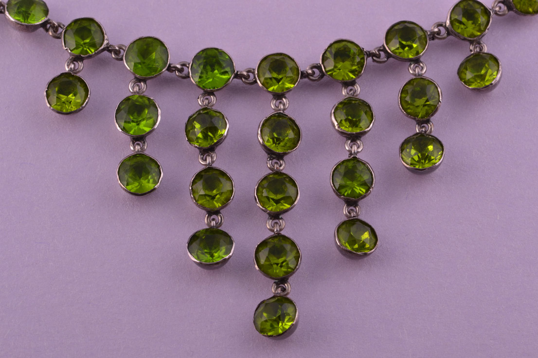 Silver And Glass 1930 S Necklace Vintage Jewellery