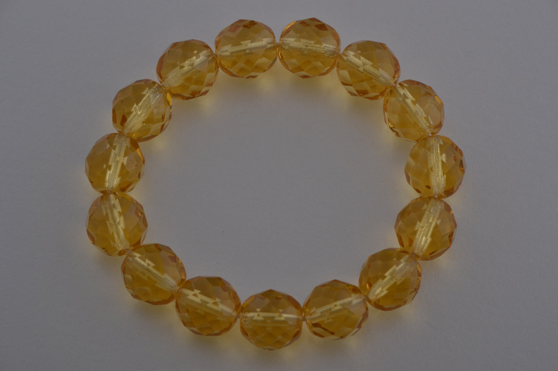 Modern Bracelet With Citrine-Coloured Crystals