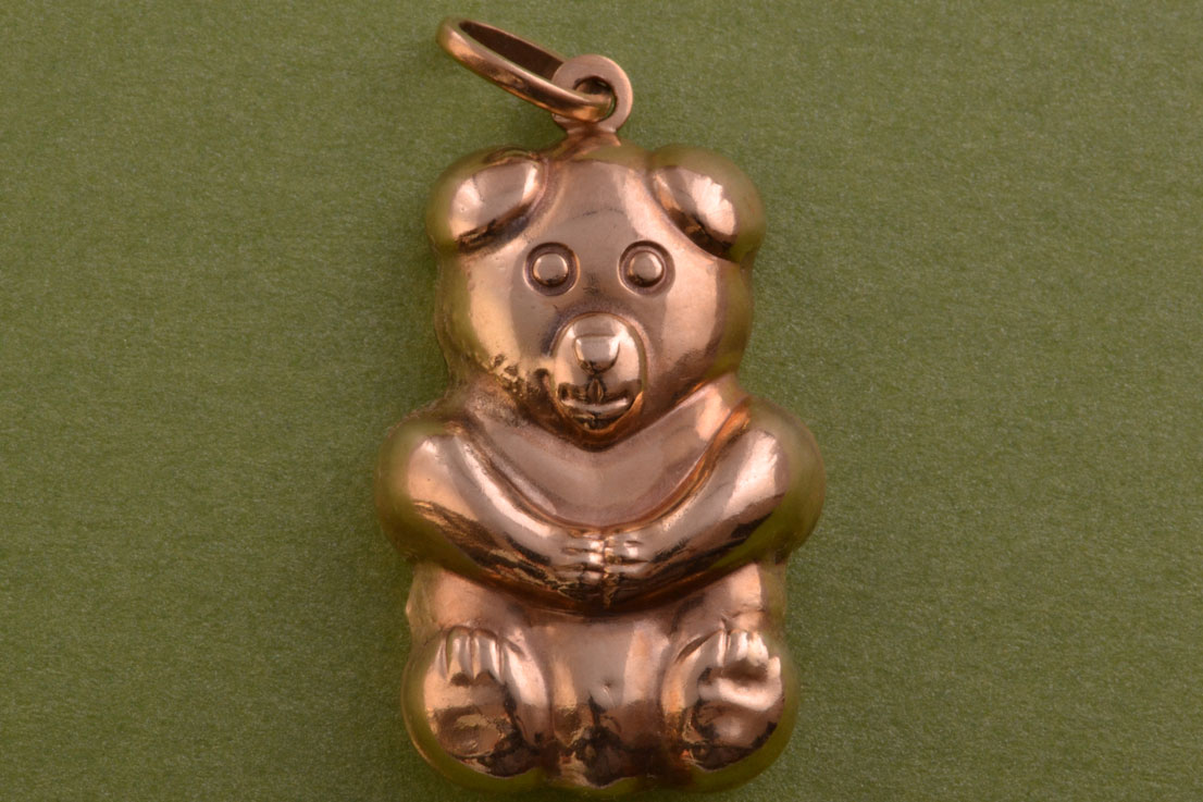 9ct Yellow Gold Vintage Teddy Bear Charm / Pendant