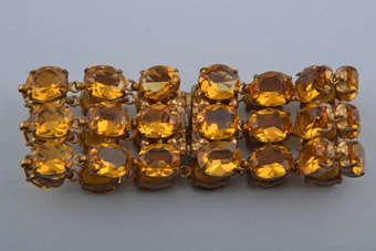 Vintage Amber-Coloured Bracelet