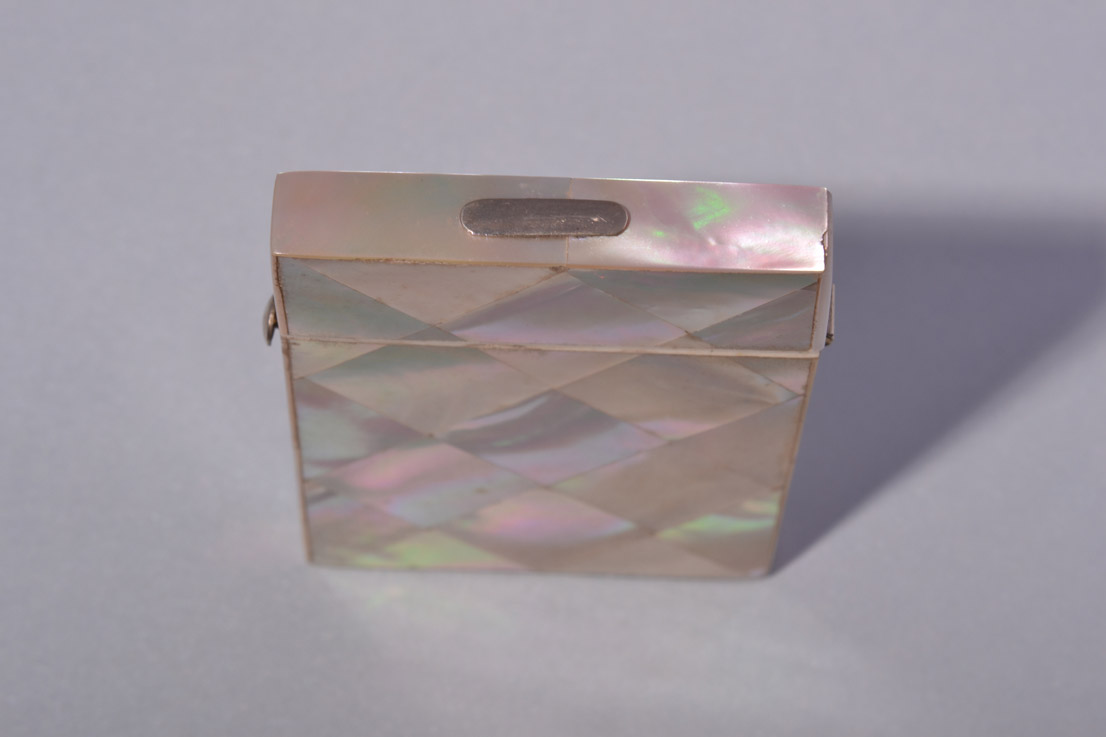 Mother Of Pearl Victorian Visiting Card Case With Velvet