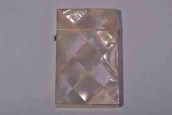 Mother-Of-Pearl Victorian Visiting Card Case With Velvet