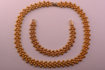 Gold Tone Gilt Vintage Avon Set