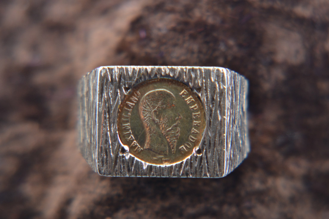 9ct Yellow Gold Retro Signet-Type Coin Ring