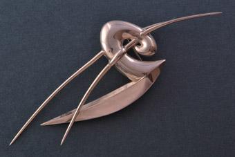 Silver Modernist Brooch