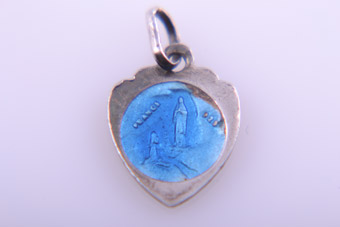 Silver And Enamel Charm