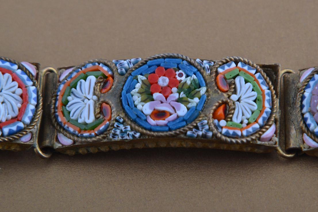 Mosaic Vintage Italian Bracelet Vintage Jewellery