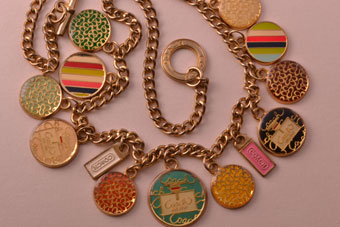 Gilt Vintage Coach Necklace