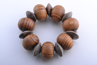 Wooden 1970's Stretch Bracelet