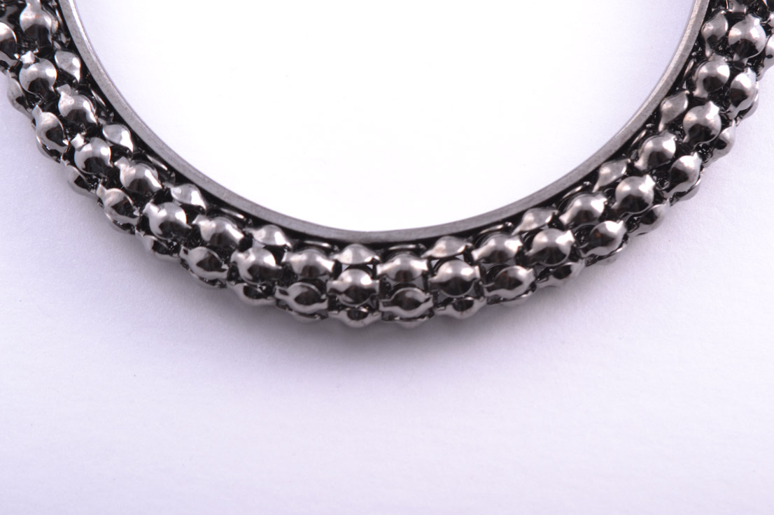 Modern Gun Metal Bangle Costume Jewellery Amanda