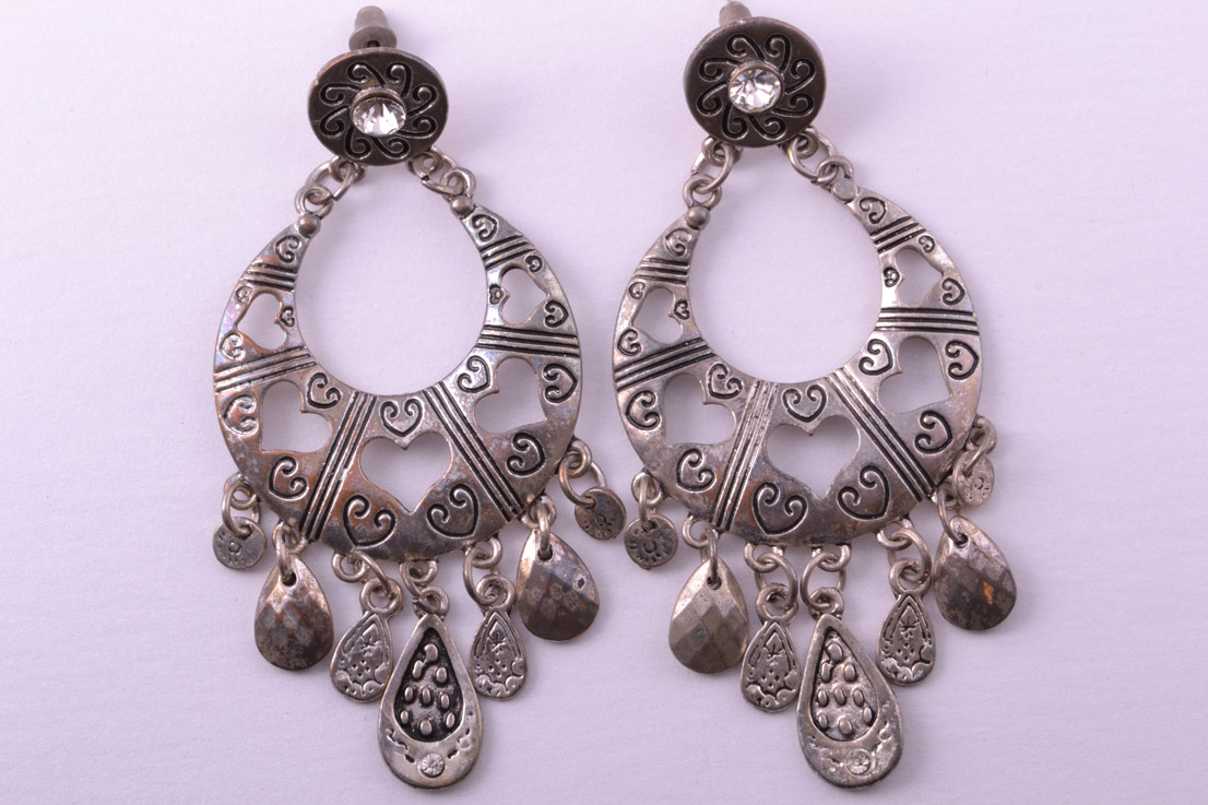 Modern Gypsy-Style Hoop Stud Earrings