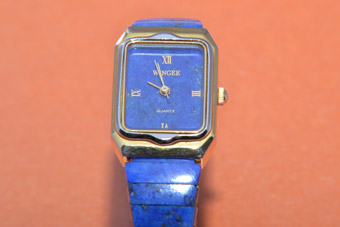 Wingee Watch With Lapis Lazuli
