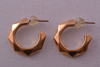 10ct Yellow Gold Vintage Stud Hoop Earrings