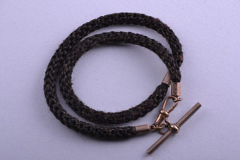 Hair And Gilt Victorian Watch Chain