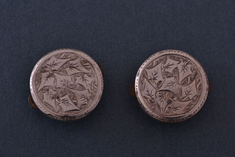 Silver-Fronted Victorian Mechanical Spring-Back Shirt Button Studs