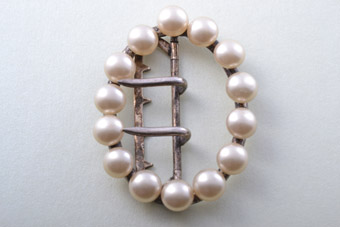 Victorian Buckle With Faux Pearls