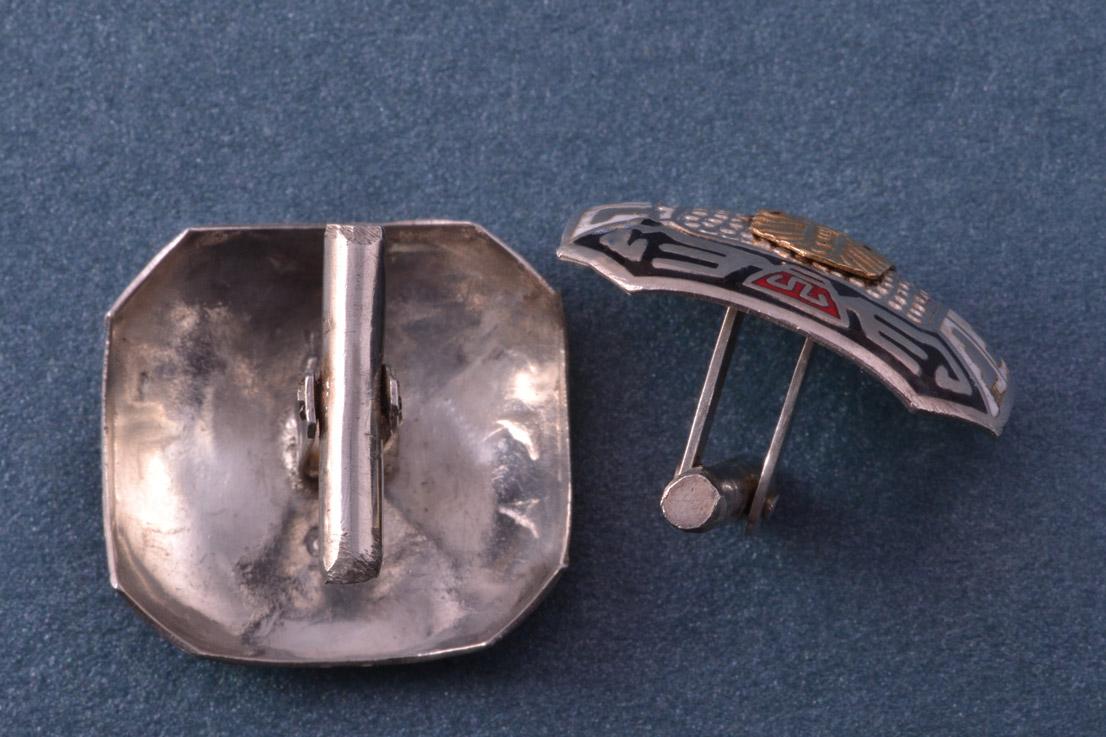 Silver And Enamel Vintage Cufflinks Vintage Jewellery