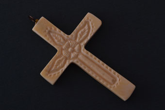 Ivory Victorian Hand Carved Cross
