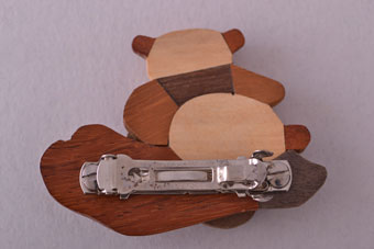 Wooden Vintage Hair Clip