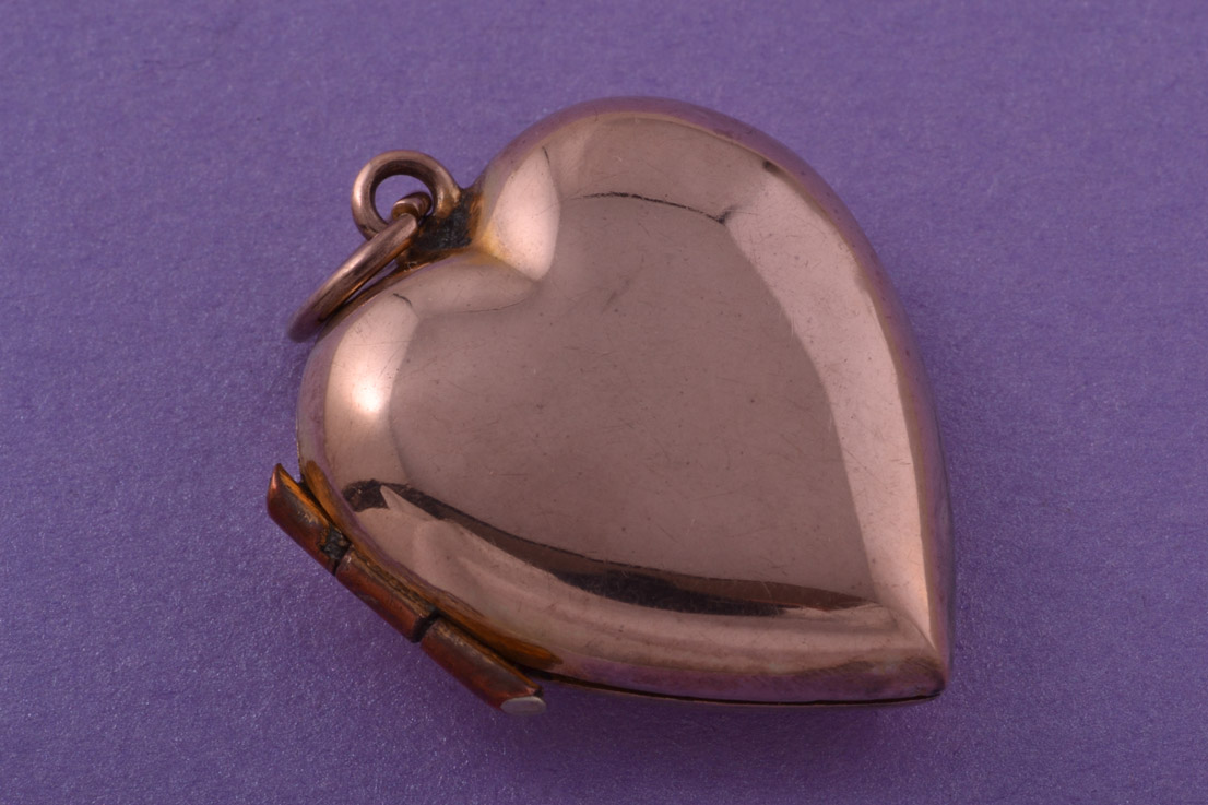 Gold Plated Victorian Heart Locket