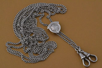 Silver Art Nouveau Guard Chain