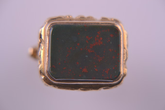 Gold Fob With Bloodstone