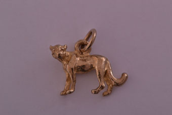 9ct Yellow Gold Modern African Cheetah Charm