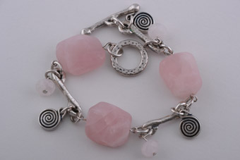 Modern Bracelet With Rose Quartz