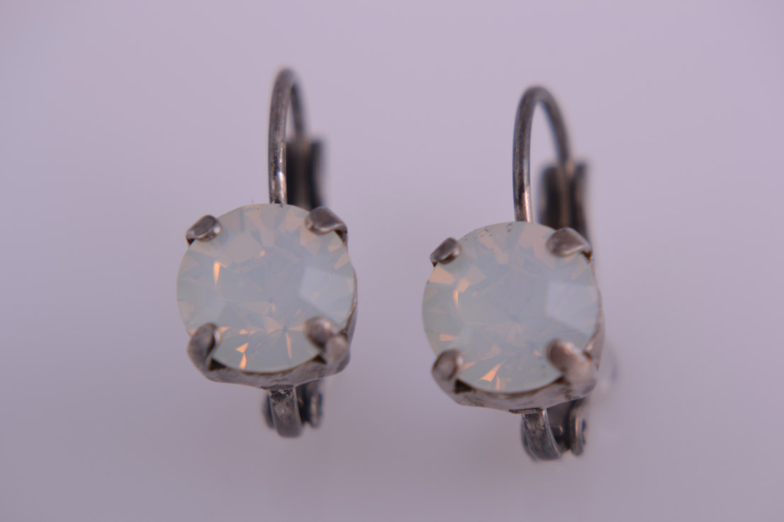 Modern Luminous Crystal Hook Earrings