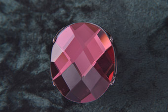 Modern Costume Ring With A Large Wine-Coloured Faceted Stone