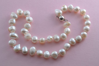 Modern Pearl Necklace With Silver Clasp