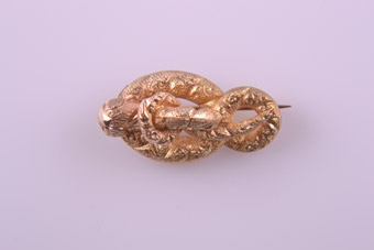 Yellow Gold Victorian Snake Brooch