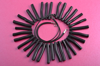 Necklace With Black Beads