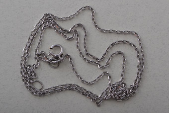 9ct White Gold Modern Chain