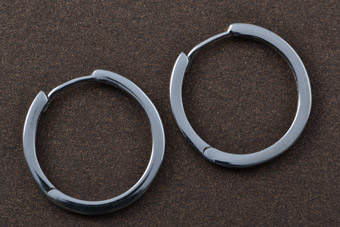 9ct White Gold Modern Hoop Earrings