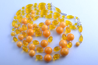 Plastic 1950's Yellow Necklace