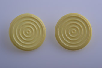Plastic 1950's Butter Yellow Stud Earrings