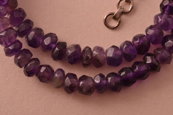 Modern Amethyst Necklace