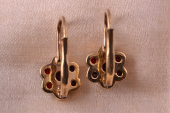 Silver Gilt Hook Earrings