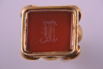 Gold Cased Carnelian Fob
