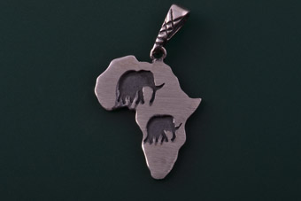 Silver African Charm