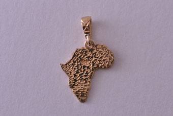 Gold African Charm