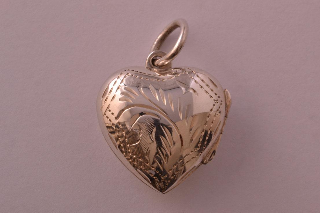 Silver Modern Opening Heart Locket Modern Jewellery