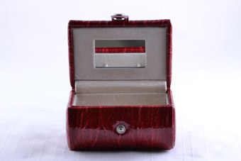 Modern Red Jewellery Box